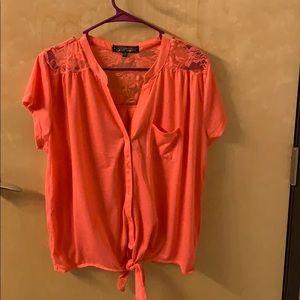 Coral short sleeved shirt